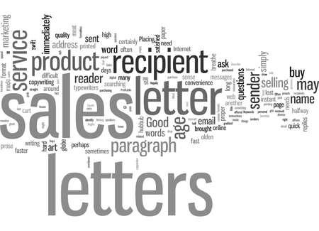 Cartas de buenas ventas sucintas y rentables Ilustración de vector