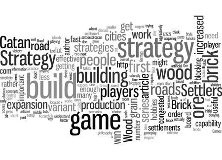 Settlers of Catan Strategy Part The Wood Brick Strategy Ilustração