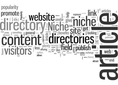 Seven Benefits Of Niche Article Directories Illustration