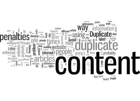 Rules Of Duplicate Content