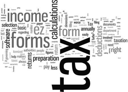 Formularios de declaración de impuestos Ilustración de vector
