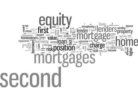 Secured Loans Second Mortgages Illustration
