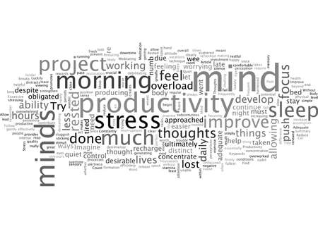 A Rested Mind Can Improve Your Productivity Stock Illustratie