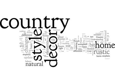 A New Look at Country Style Home Decor