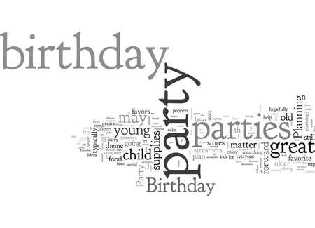 Verjaardagsfeestjes Vector Illustratie