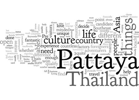 Are You Ready To Retire In Pattaya Иллюстрация