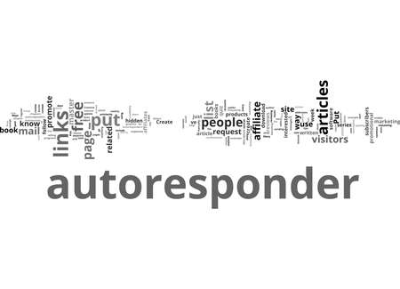 Word Cloud Summary of Creative Ways You Can Use Autoresponders Article