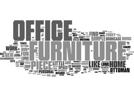 Word Cloud Summary of Furniture to Dress Up Your Office Article