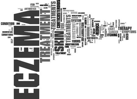 Word Cloud Summary of Forms Of Treatment For Eczema Sufferers Article Banque d'images