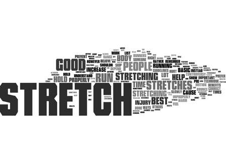 Word Cloud Summary of Basic Stretches For Runners Article