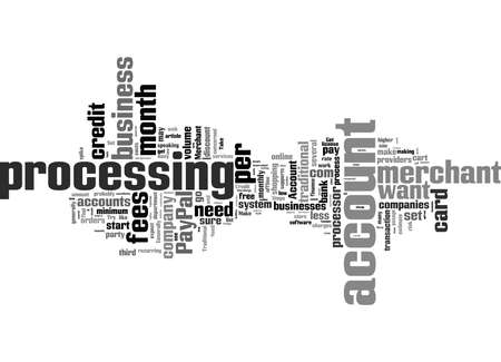 Word Cloud Summary of How To Accept Credit Cards Article Archivio Fotografico