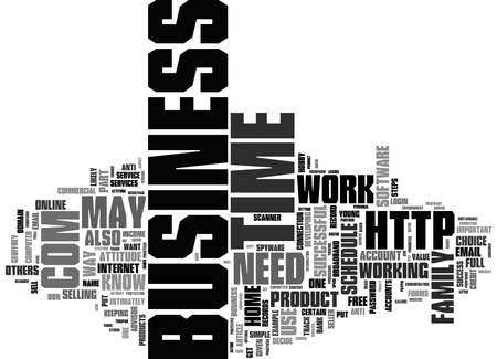 Word Cloud Summary of Key Strategies for Success in a Home Based Business Article 写真素材