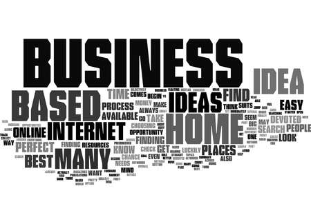 Word Cloud Summary of Best Home Based Business Ideas Where To Find Them Article