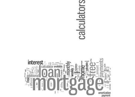 Word Cloud Summary of Five Ways To Benefit From Free Mortgage Loan Calculators Article