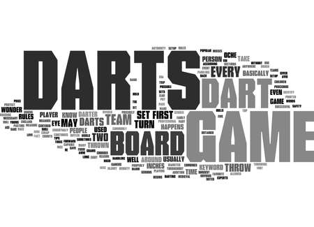Word Cloud Summary of Darts game Article