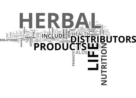 Word Cloud Summary of HERBAL LIFE DISTRIBUTORS Article Standard-Bild