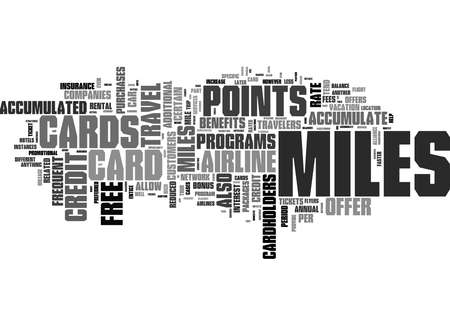 Word Cloud Summary of Miles Credit Cards Strategies to Accumulate Miles Article