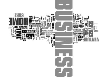 Word Cloud Summary of Powerful Steps To Home Business Success Article