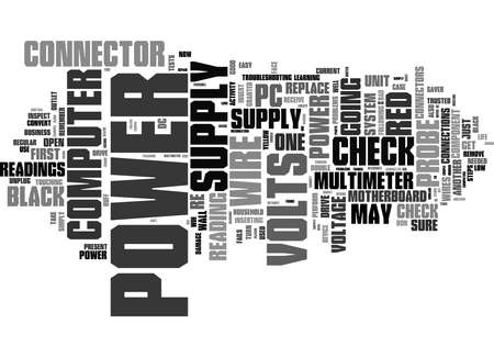 Word Cloud Summary of How To Recognize And Repair Power Supply Problems Article