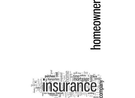 Word Cloud Summary of How To Save Money And Get Discount Homeowner s Insurance In New Hampshire Article Stock fotó