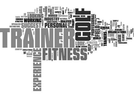 Word Cloud Summary of How To Choose A Golf Fitness Trainer Article