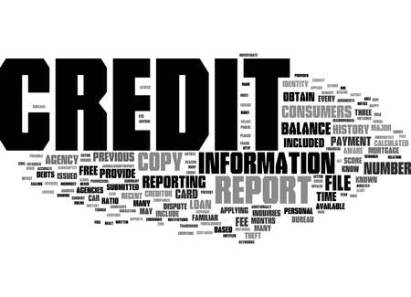 Word Cloud Summary of How To Get A Free Credit Report What It Means To You Article