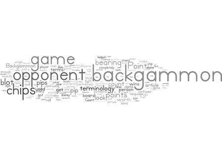 Word Cloud Summary of Common Backgammon Terminology Article