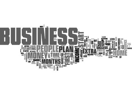 Word Cloud Summary of How To Start A Business At Home And Make Big Bucks Article 版權商用圖片