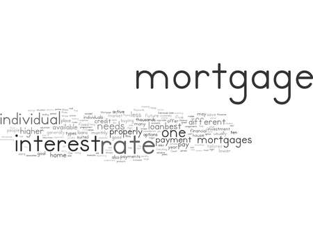 Word Cloud Summary of How to Find the Right Mortgage Article Banque d'images