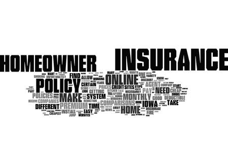 Word Cloud Summary of How To Get Cheap Homeowner s Insurance Online In Iowa Article