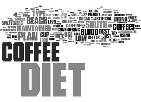 Word Cloud Summary of DIET COFFEE Article