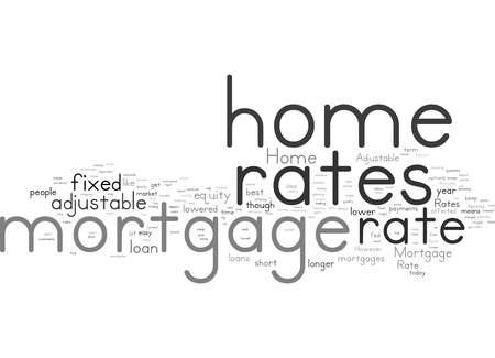 Word Cloud Summary of Home Mortgage Rates Article Stock Photo