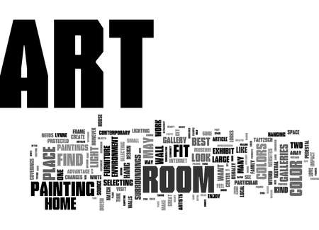 Word Cloud Summary of How to Select Art for Your Home Article 免版税图像
