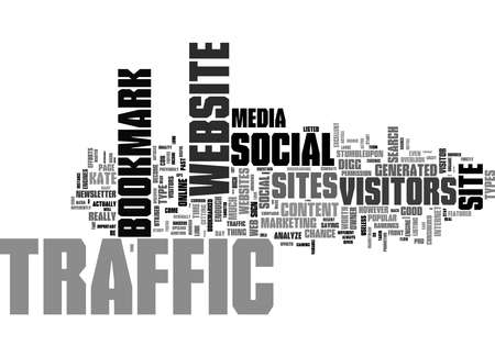 Word Cloud Summary of Social Bookmark Traffic Is It Useful Article