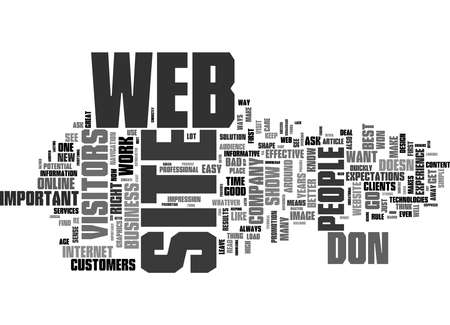 Word Cloud Summary of Is Your Web Site Ready For Its Visitors Article Banque d'images