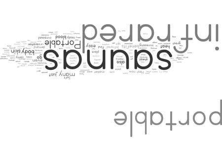 Word Cloud Summary of Portable Infrared Saunas Article Stock Photo