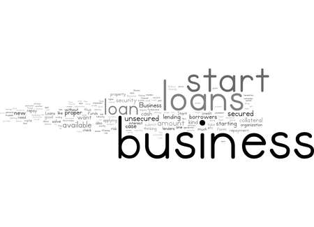Word Cloud Summary of Loans Are Available To Start Up A New Business Article Archivio Fotografico