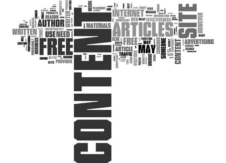 Word Cloud Summary of Free Article Use on Your Web Site Article