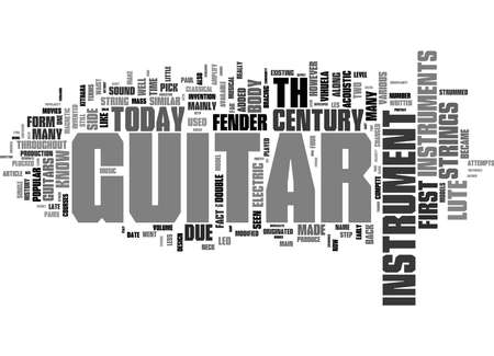 Word Cloud Summary of History of the Guitar Article