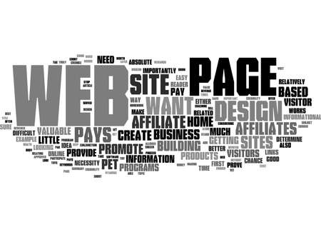 Word Cloud Summary of How To Design A Web Page That Pays Article
