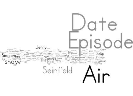 Word Cloud Summary of Seinfeld Season DVD Article 免版税图像 - 157196710