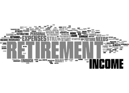Word Cloud Summary of Retirement Income Article