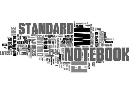 Word Cloud Summary of Notebook And Wifi Standards Article