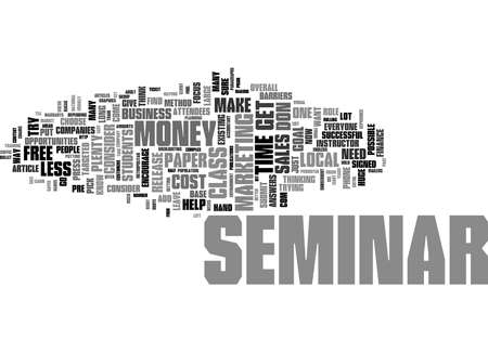 Word Cloud Summary of How To Market A Seminar Article