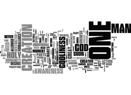 Word Cloud Summary of Message from The Holy One Article