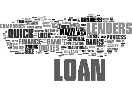 Word Cloud Summary of How to Find a Quick Loan Article