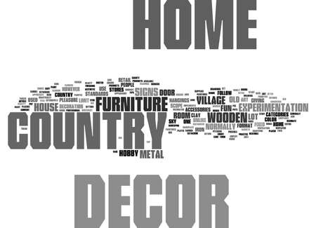Word Cloud Summary of Country home decor is fun Article 免版税图像