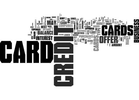 Word Cloud Summary of Find The Best Credit Card Type Article Banque d'images