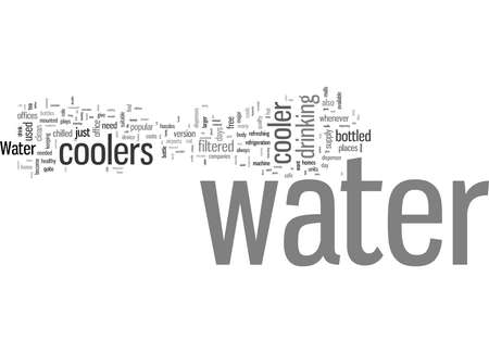 Word Cloud Summary of The Benefits of Water Coolers at Home or in the Office Article 写真素材