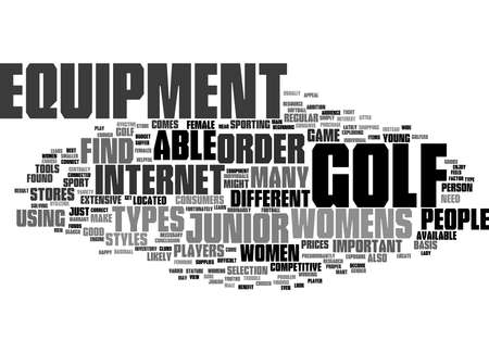 Word Cloud Summary of Junior Womens Golf Equipment Article